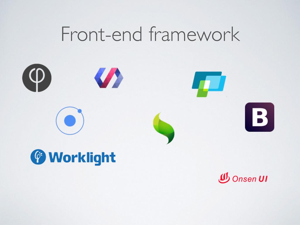 Front-end framework