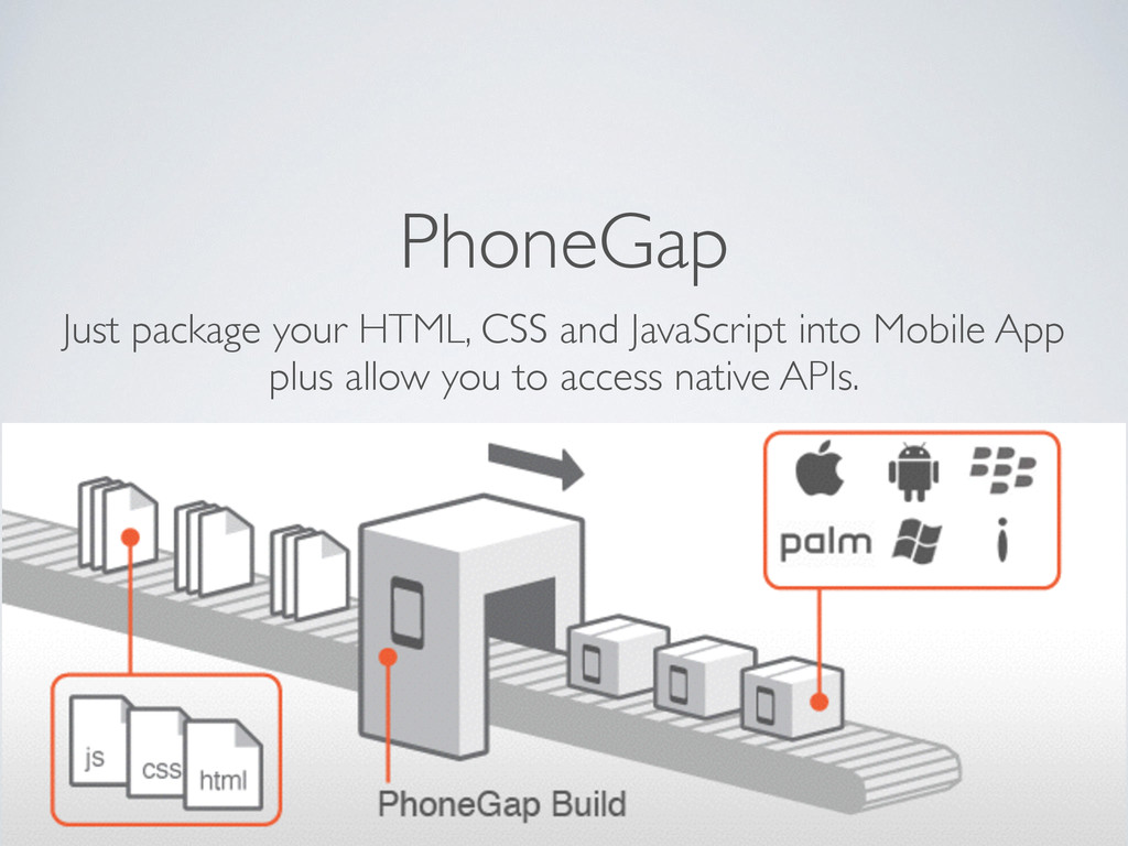 PhoneGap Just package your HTML, CSS and JavaSc...