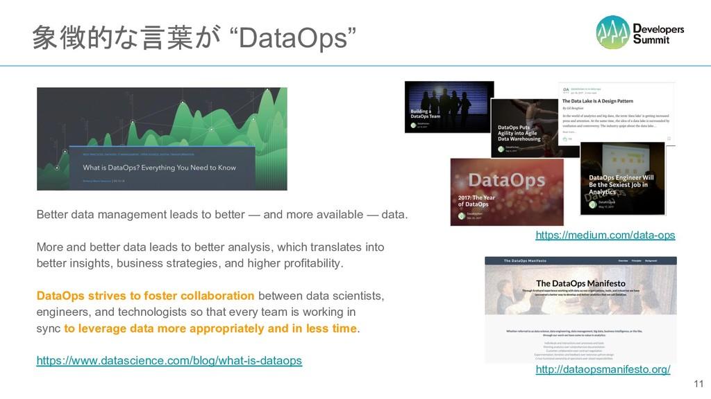 """象徴的な言葉が """"DataOps"""" Better data management leads ..."""