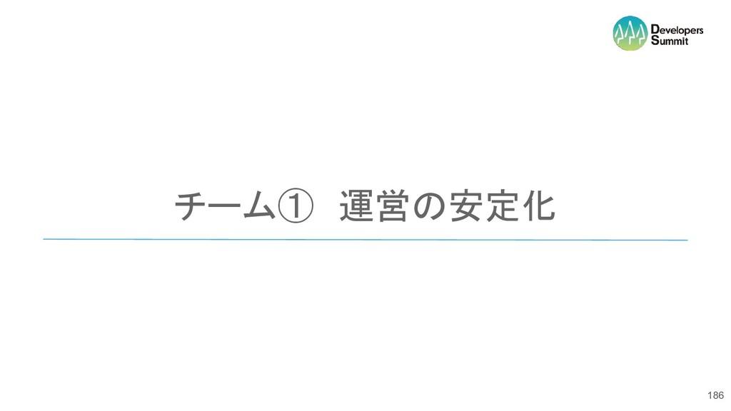 チーム① 運営の安定化 186