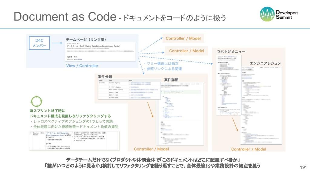 Document as Code - ドキュメントをコードのように扱う 191 データチームだ...