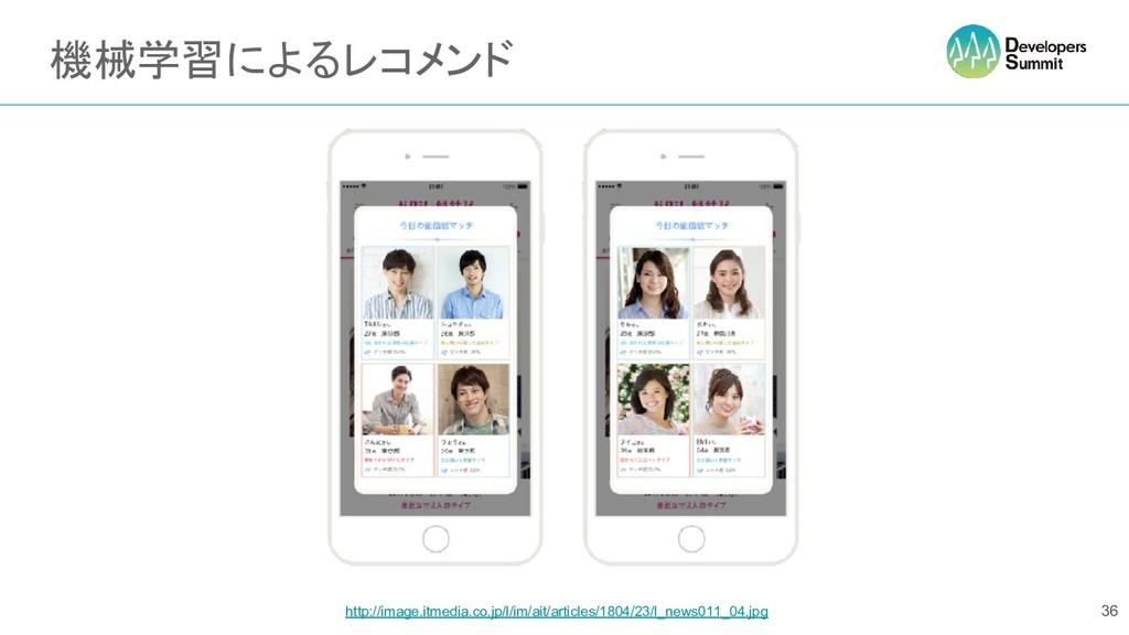 機械学習によるレコメンド 36 http://image.itmedia.co.jp/l/im...