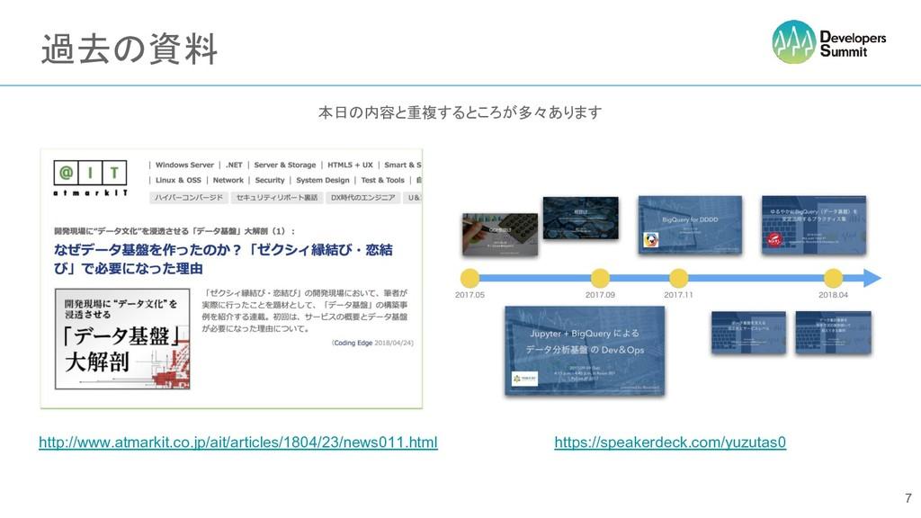 過去の資料 本日の内容と重複するところが多々あります 7 http://www.atmarki...