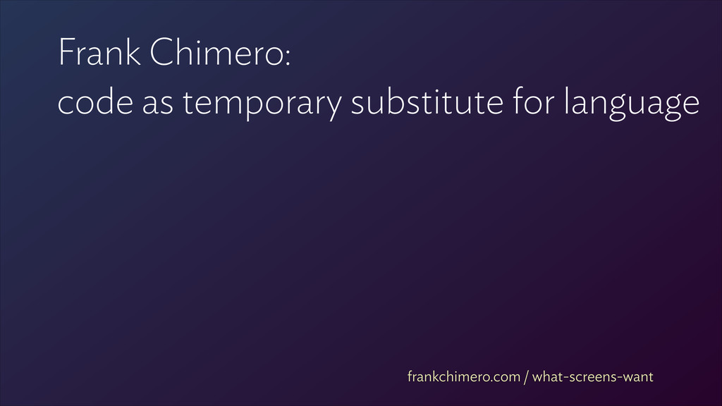 Frank Chimero: 