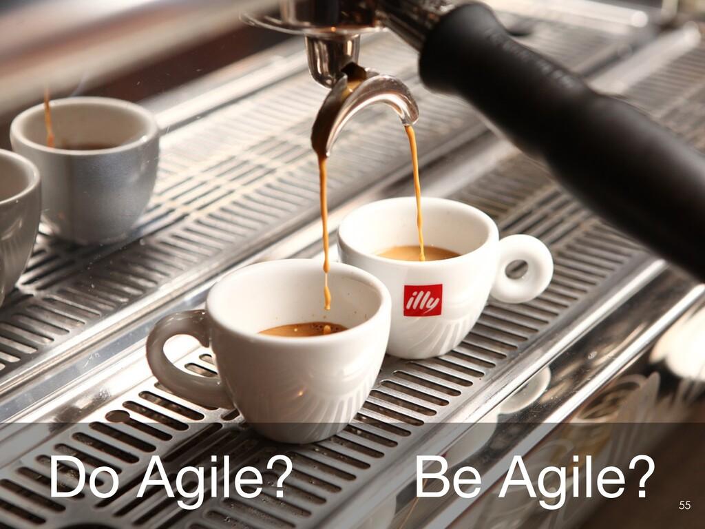 Do Agile?ɹɹBe Agile? 55