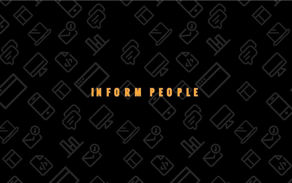 11/69 INFORM PEOPLE