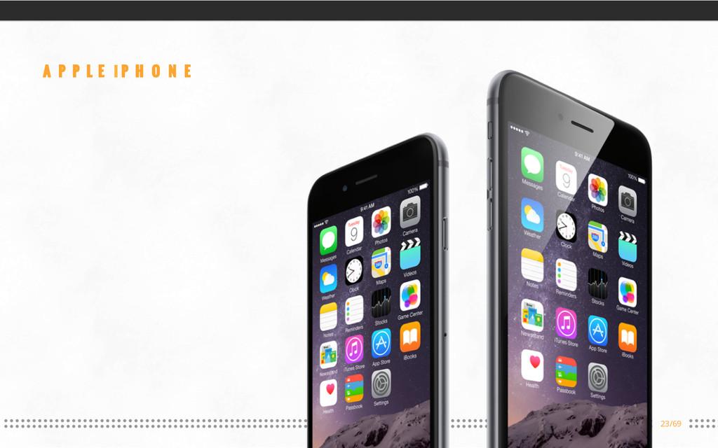 23/69 APPLE iPHONE