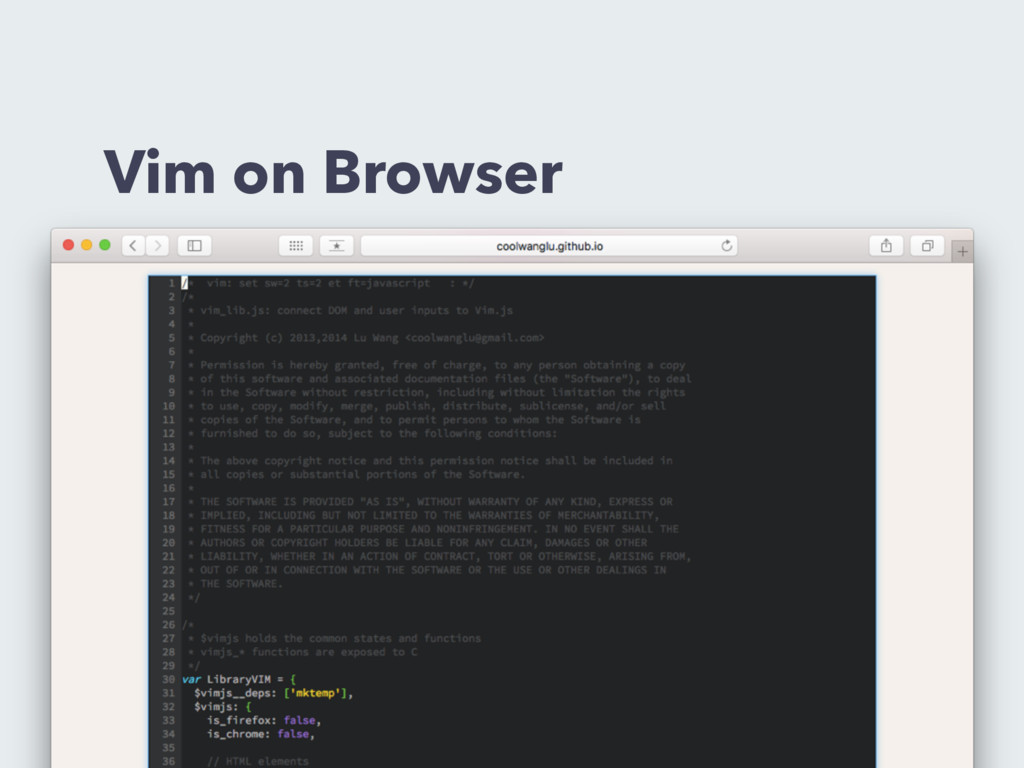 Vim on Browser
