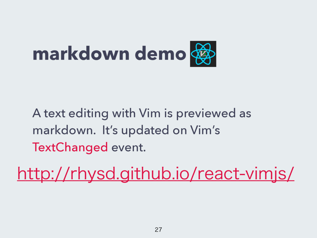 markdown demo A text editing with Vim is previe...