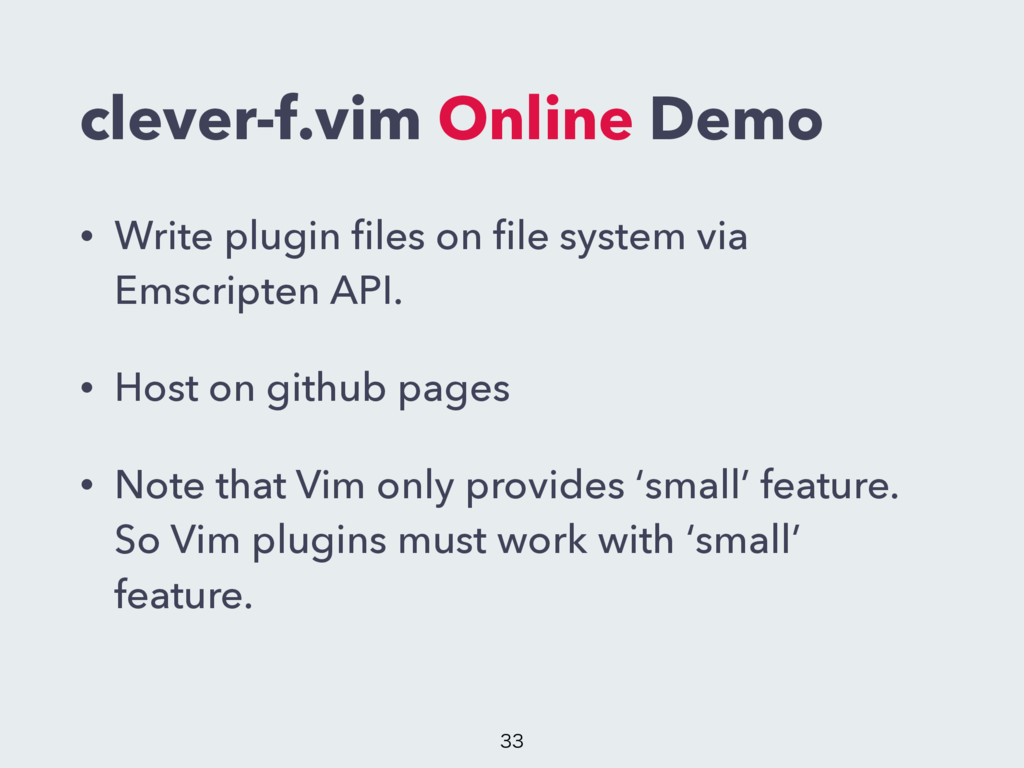 clever-f.vim Online Demo • Write plugin files on...