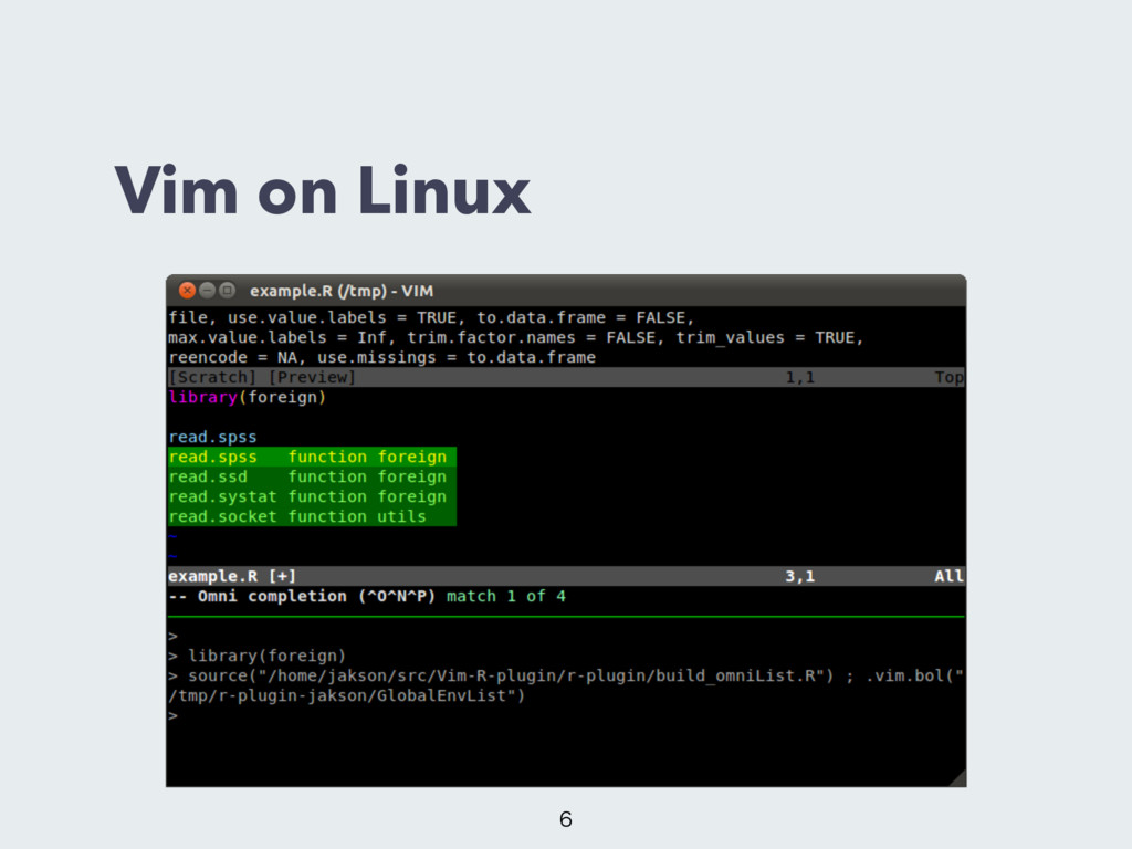 Vim on Linux