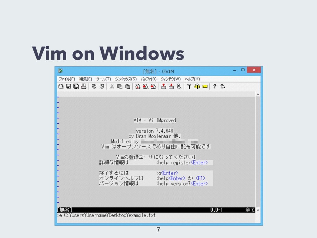 Vim on Windows