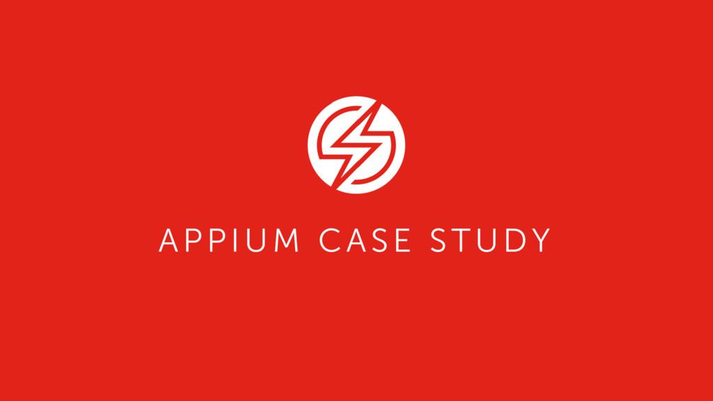 APPIUM CASE STUDY