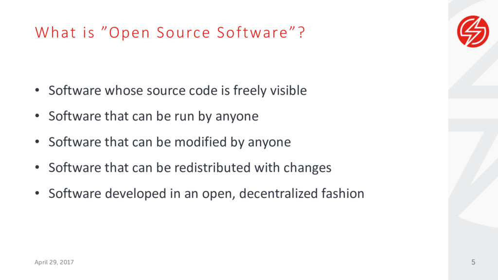 """What is """"Open Source Software""""? April 29, 2017 ..."""