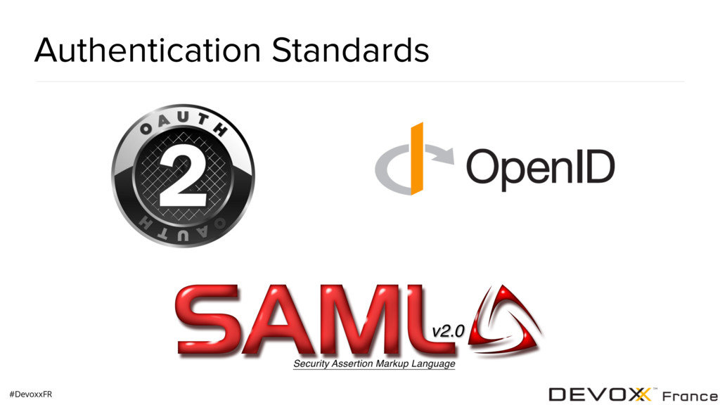 #DevoxxFR Authentication Standards
