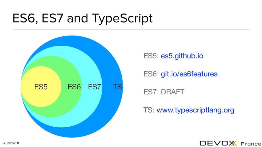 #DevoxxFR ES6, ES7 and TypeScript TS ES7 ES6 ES...
