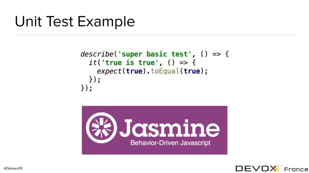 #DevoxxFR Unit Test Example