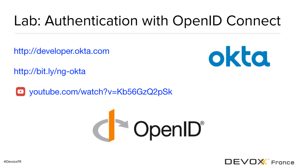 #DevoxxFR Lab: Authentication with OpenID Conne...