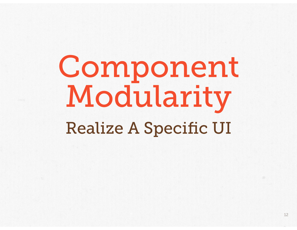 12 Component Modularity Realize A Specific UI