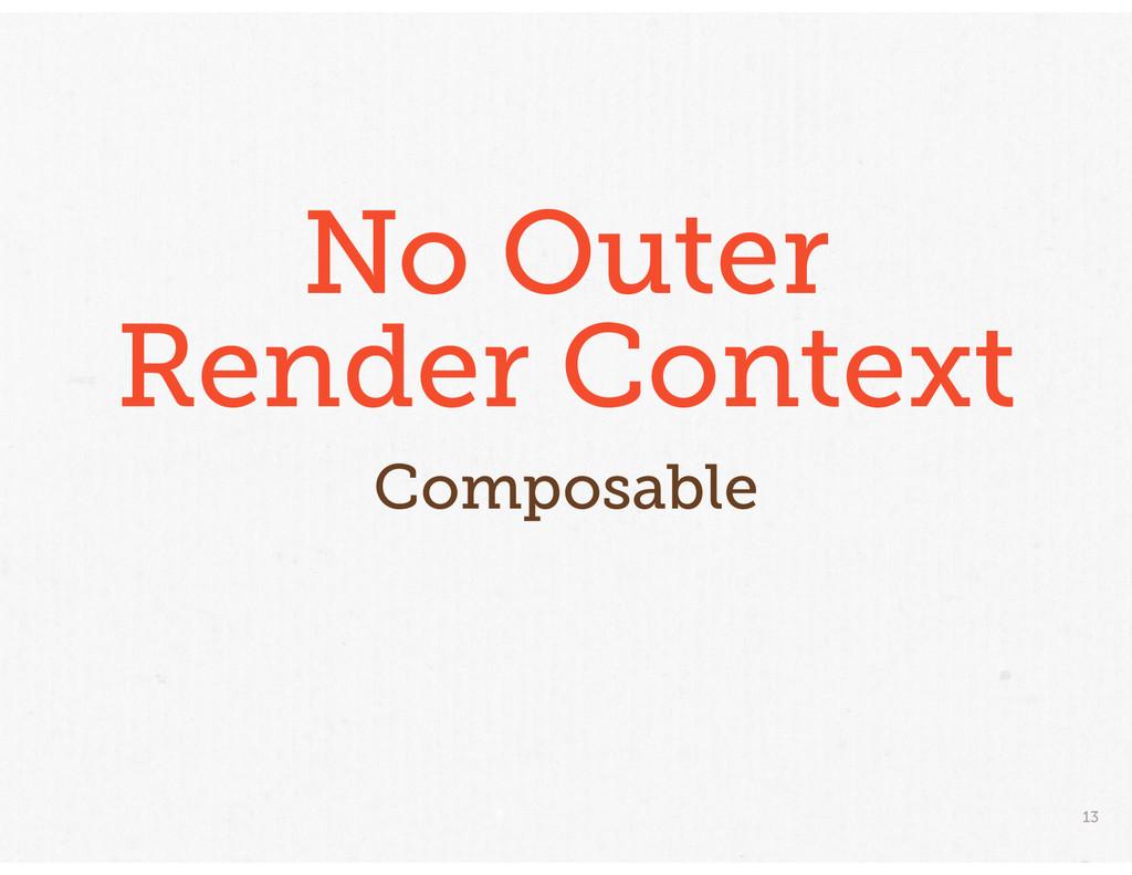 13 No Outer Render Context Composable