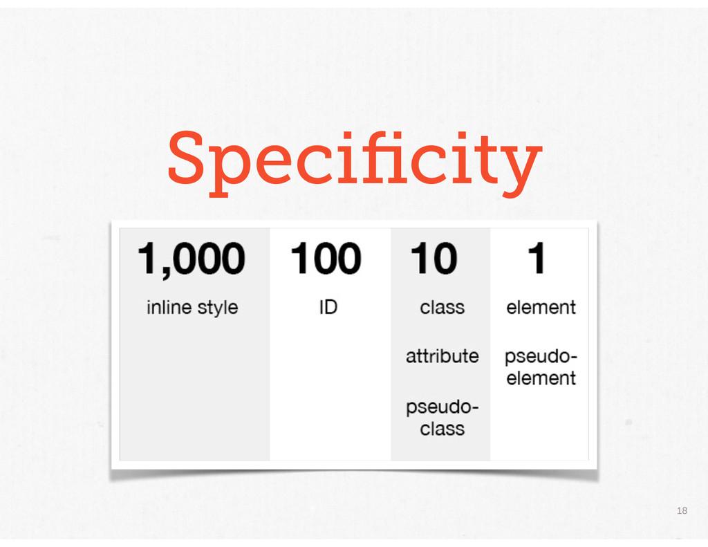18 Specificity