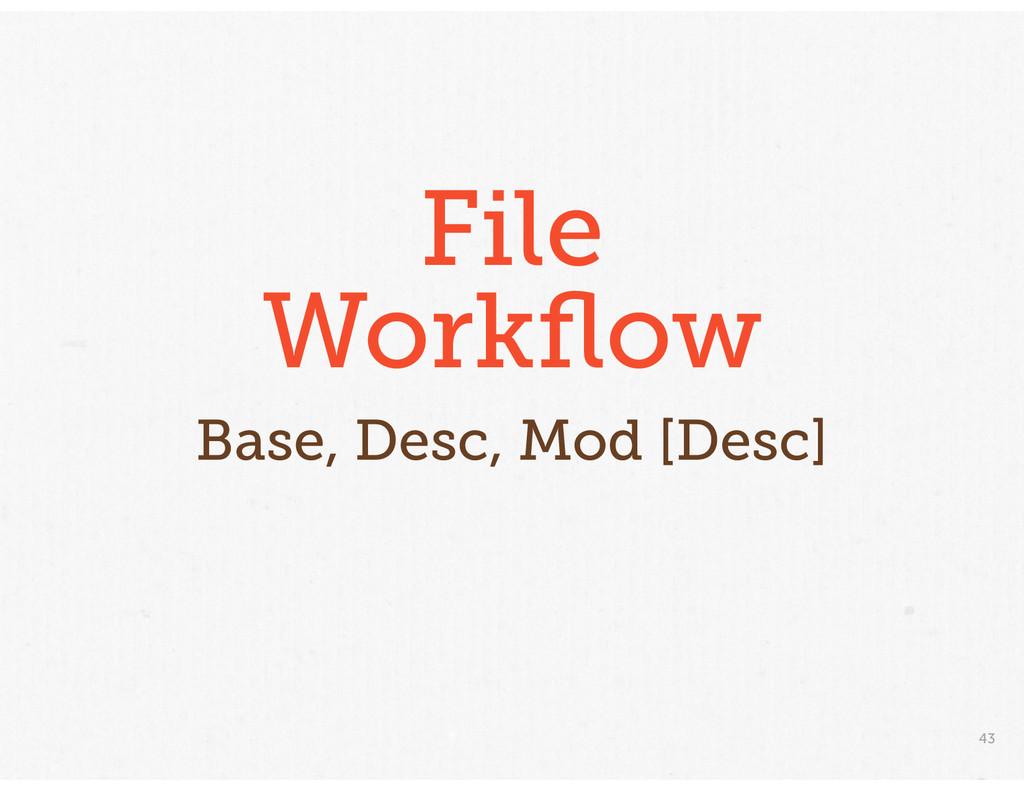 43 File Workflow Base, Desc, Mod [Desc]