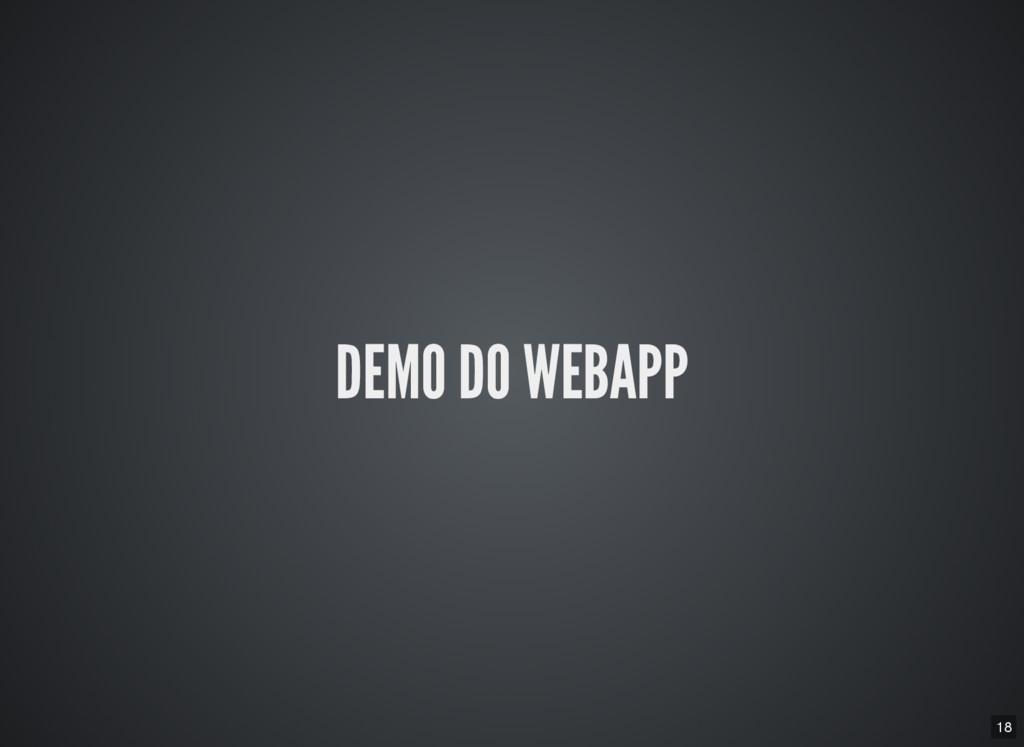 18 DEMO DO WEBAPP