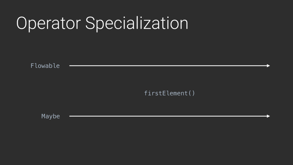 Operator Specialization firstElement() Flowable...