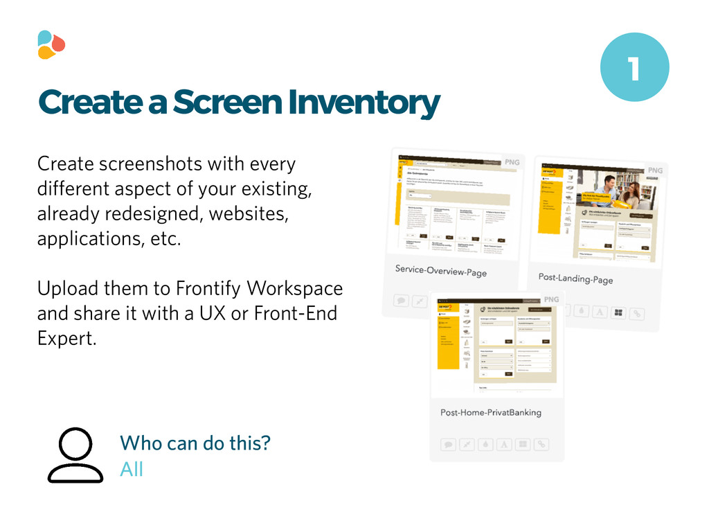 Create a Screen Inventory Create screenshots wi...