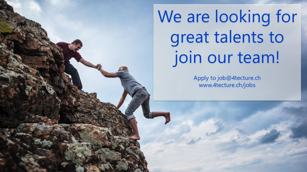 We are looking for great talents to join our te...