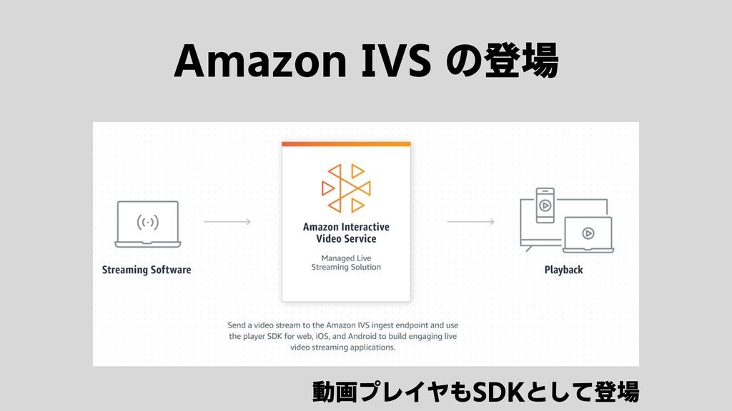 Amazon IVS の登場 動画プレイヤもSDKとして登場