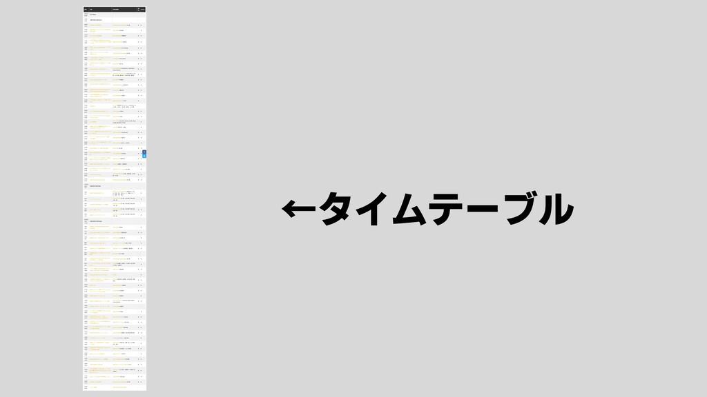 ←タイムテーブル