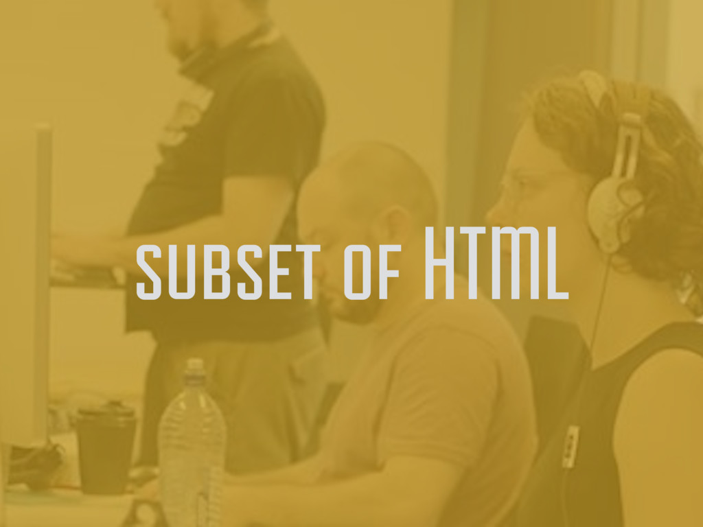 subset of HTML