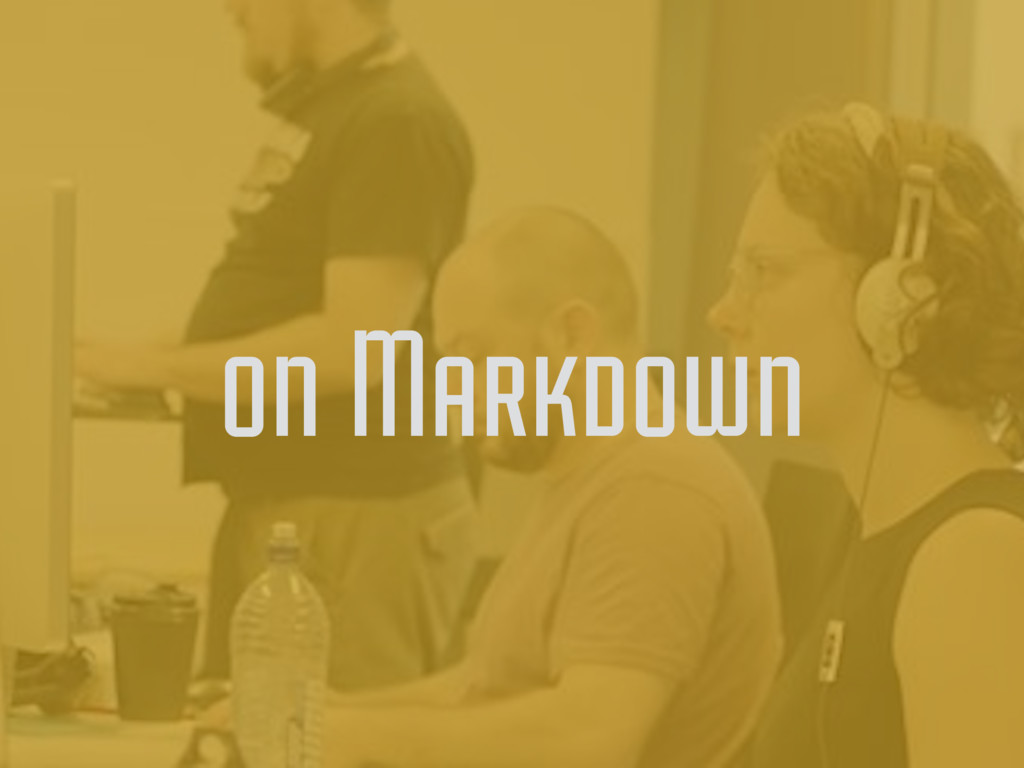 on Markdown