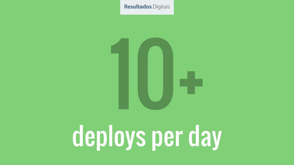 deploys per day 10+