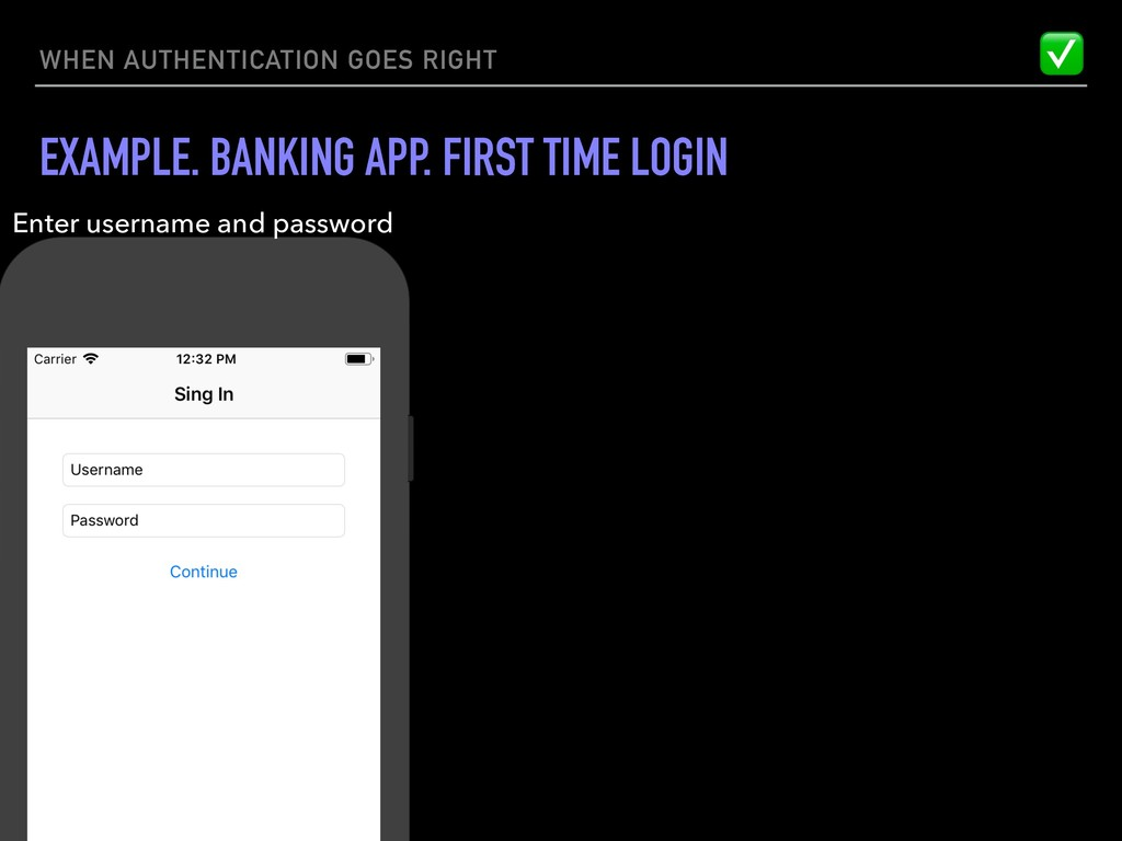 WHEN AUTHENTICATION GOES RIGHT EXAMPLE. BANKING...