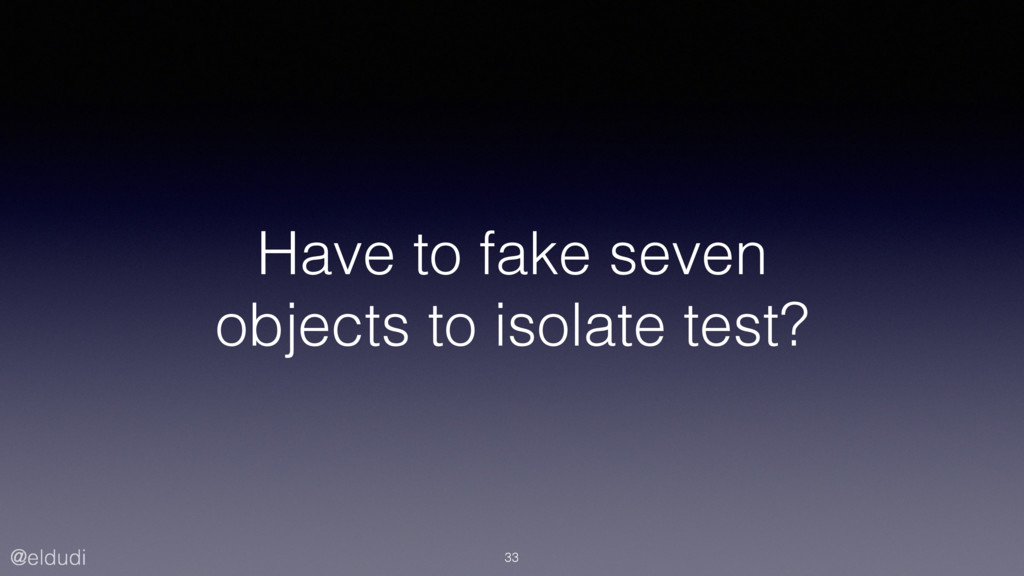 @eldudi Have to fake seven objects to isolate t...