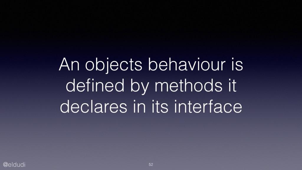 @eldudi An objects behaviour is defined by metho...