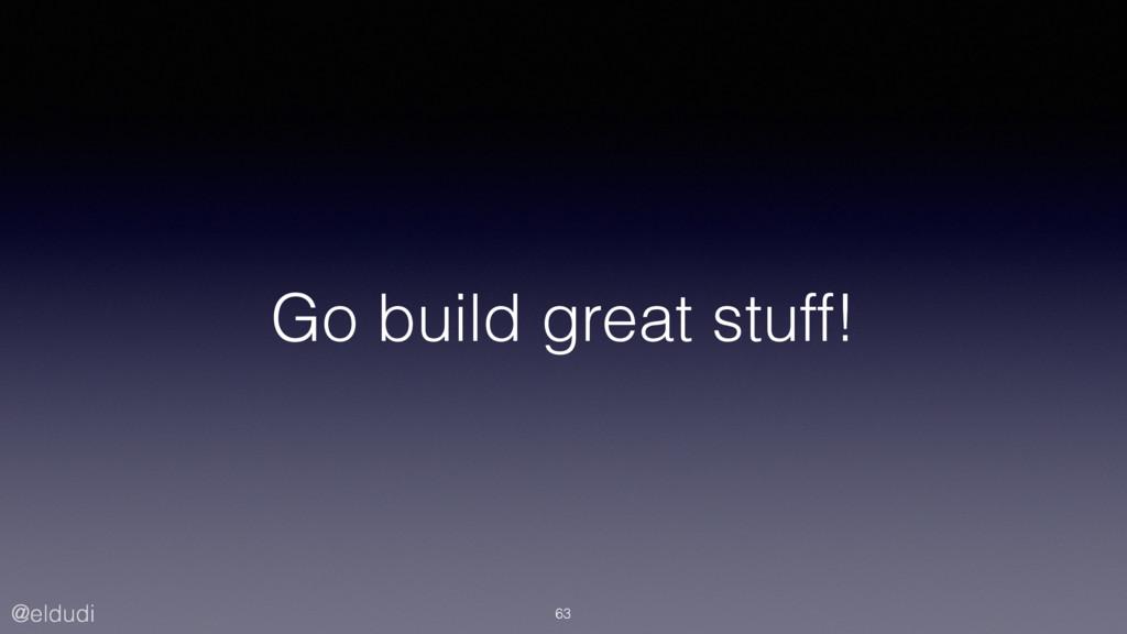 @eldudi Go build great stuff! 63