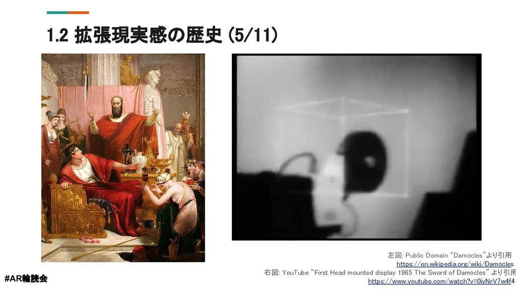 "1.2 拡張現実感の歴史 (5/11) #AR輪読会 左図: Public Domain ""D..."