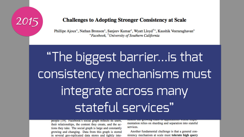 """2015 """"The biggest barrier…is that consistency m..."""