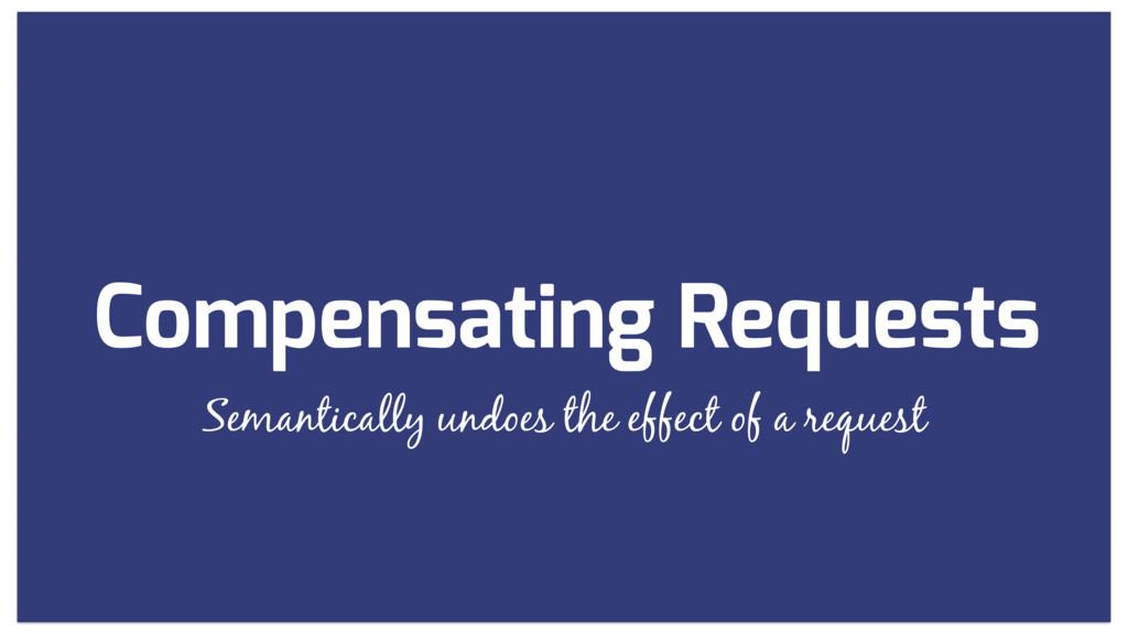 Compensating Requests Semantically undoes the e...