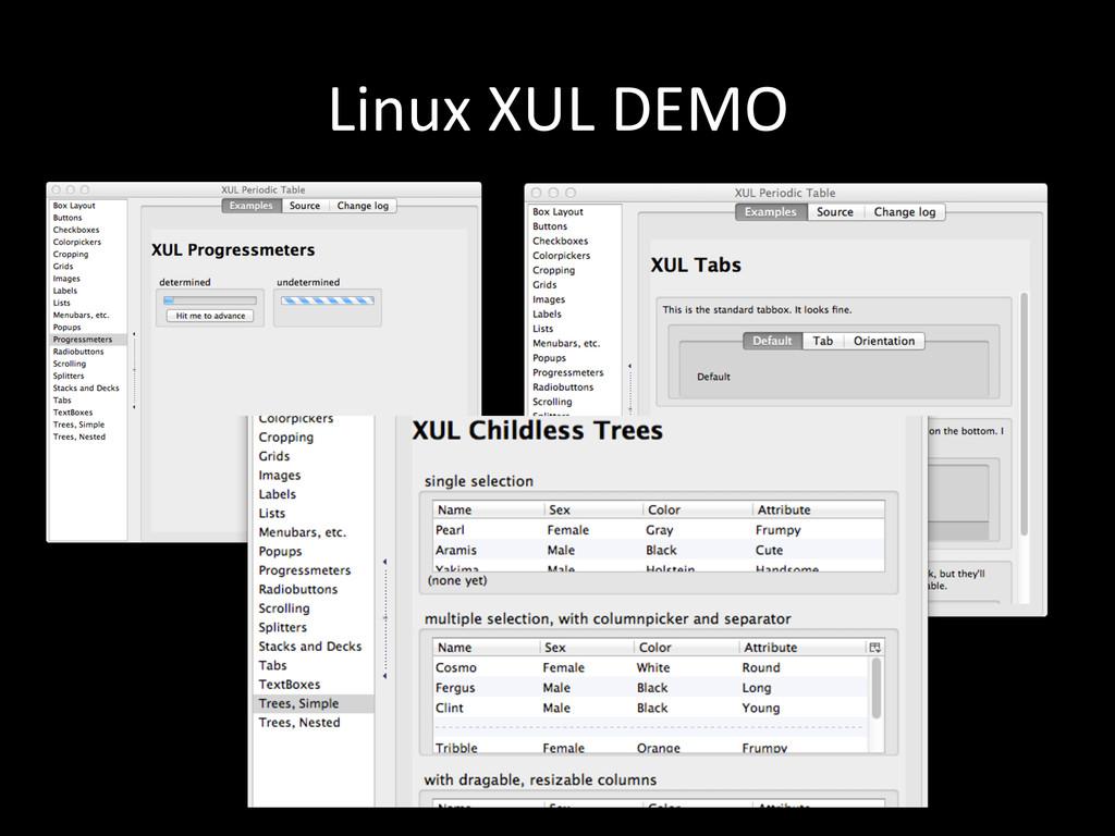 Linux XUL DEMO