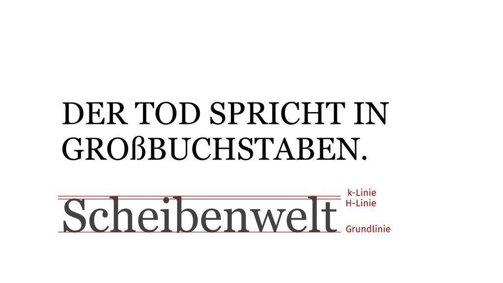 DER TOD SPRICHT IN GROßBUCHSTABEN. Scheibenwelt...