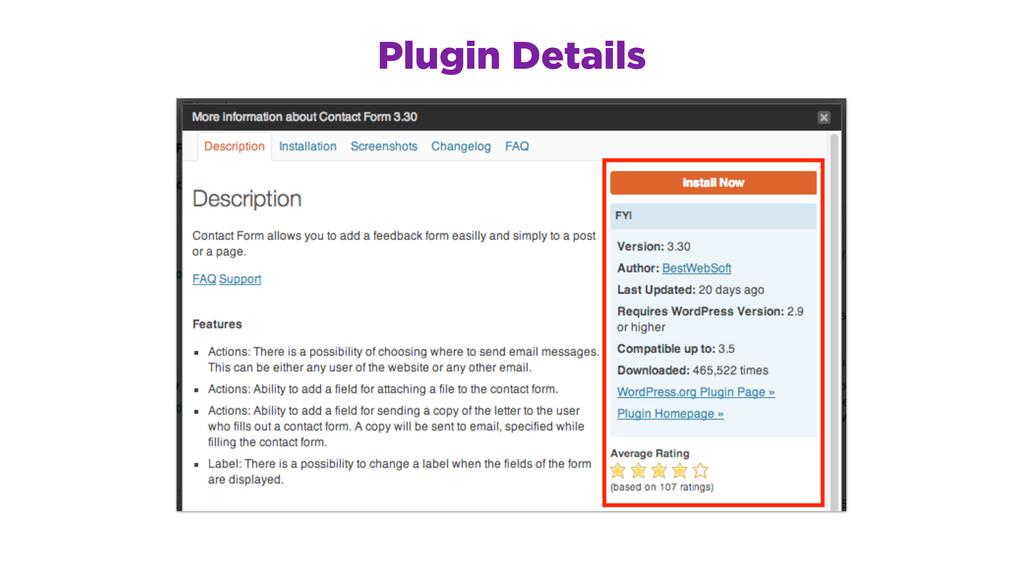 Plugin Details