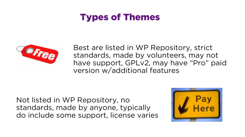 Best are listed in WP Repository, strict standa...