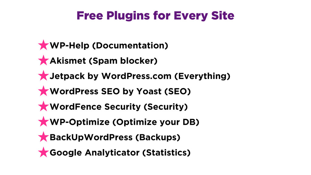 Free Plugins for Every Site ★WP-Help (Documenta...