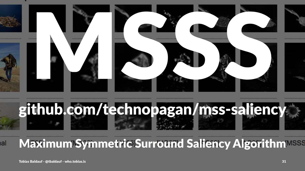 MSSS github.com/technopagan/mss1saliency Maximu...