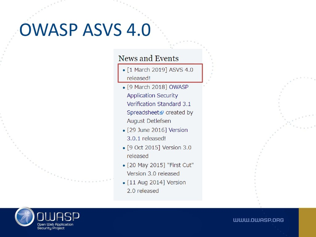 OWASP ASVS 4.0