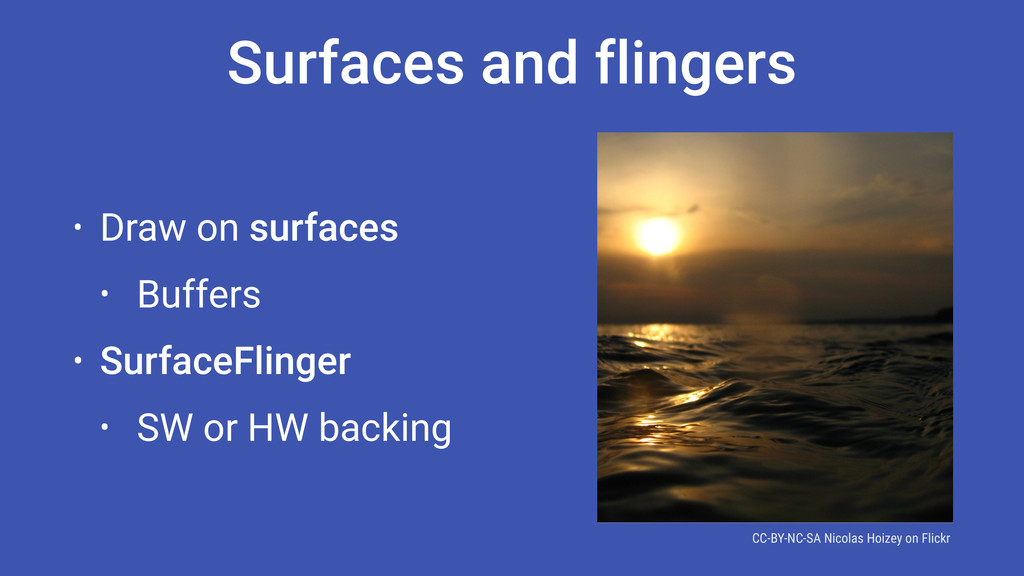 Surfaces and flingers • Draw on surfaces • Buff...